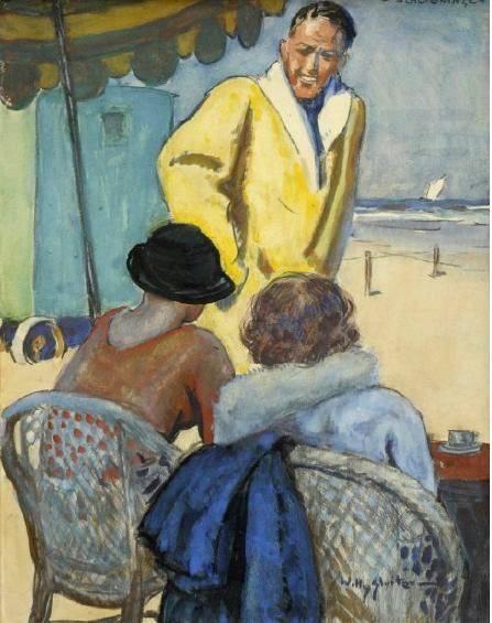 Jan Willem 'Willy' Sluiter (1873-1949). Het badseizoen begonnen.