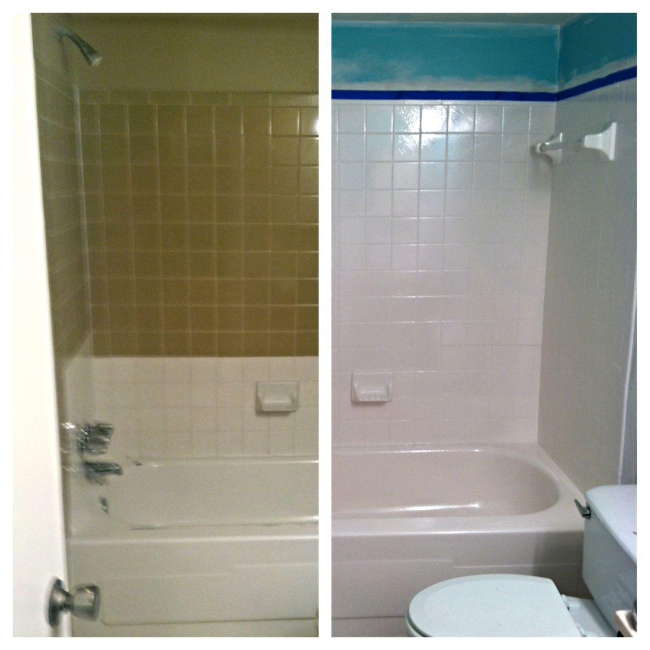 tile reglazing bathroom tile diy