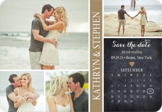 Cherished Calendar Save the Date Magnets in Walnut or Seafoam