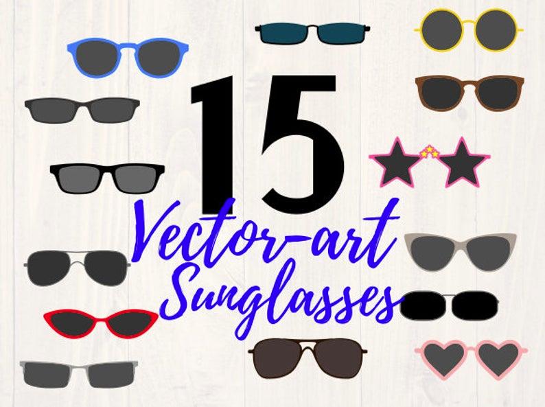 Sunglasses clipart svg bundle is a great piece of clipart
