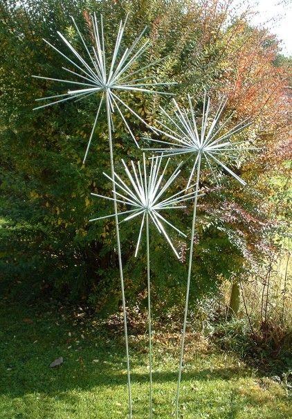 Larger Allium set for Sale at in 2020   Metal garden art ...