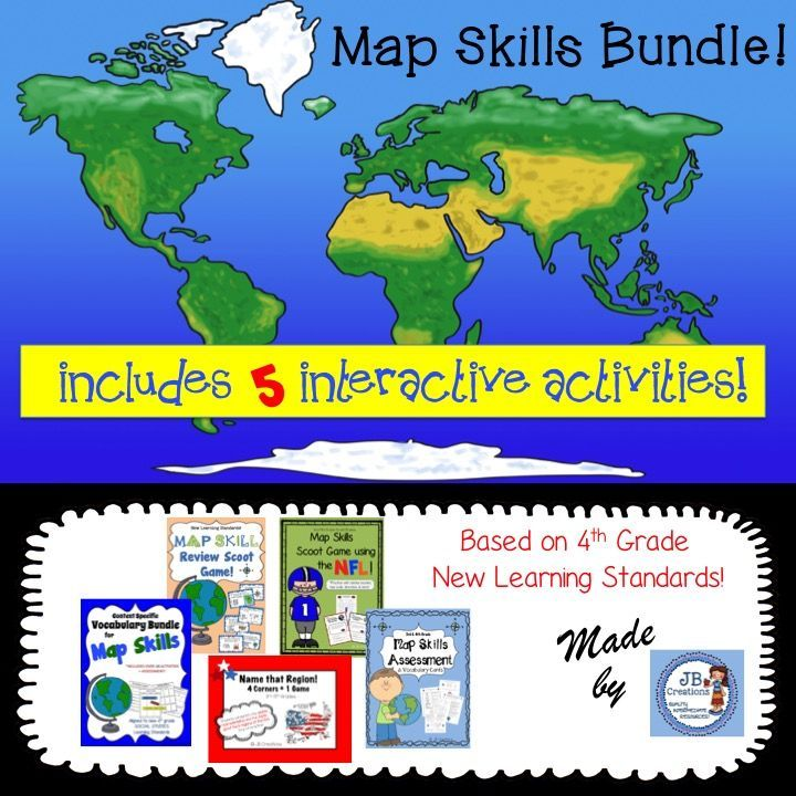 Map skills interactive activity bundle intermediate grades map map skills interactive activity bundle intermediate grades gumiabroncs Gallery