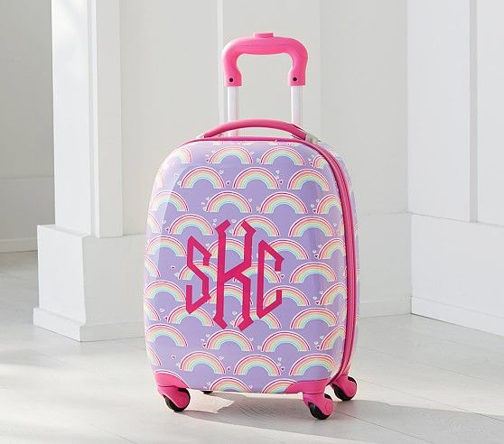Lavender Rainbow Hard Sided Spinner Luggage | Pottery Barn Kids ...
