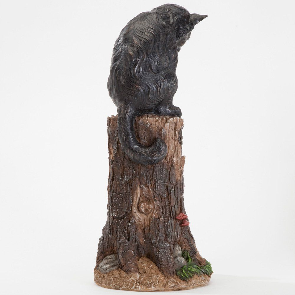 Bits And Pieces Cat And Mouse Garden Statue Outdoor Kitten On A Stump Sculpture 17 Polyresin Home Dã Cor Weather Resistan Garden Statues Lawn Ornament Statue