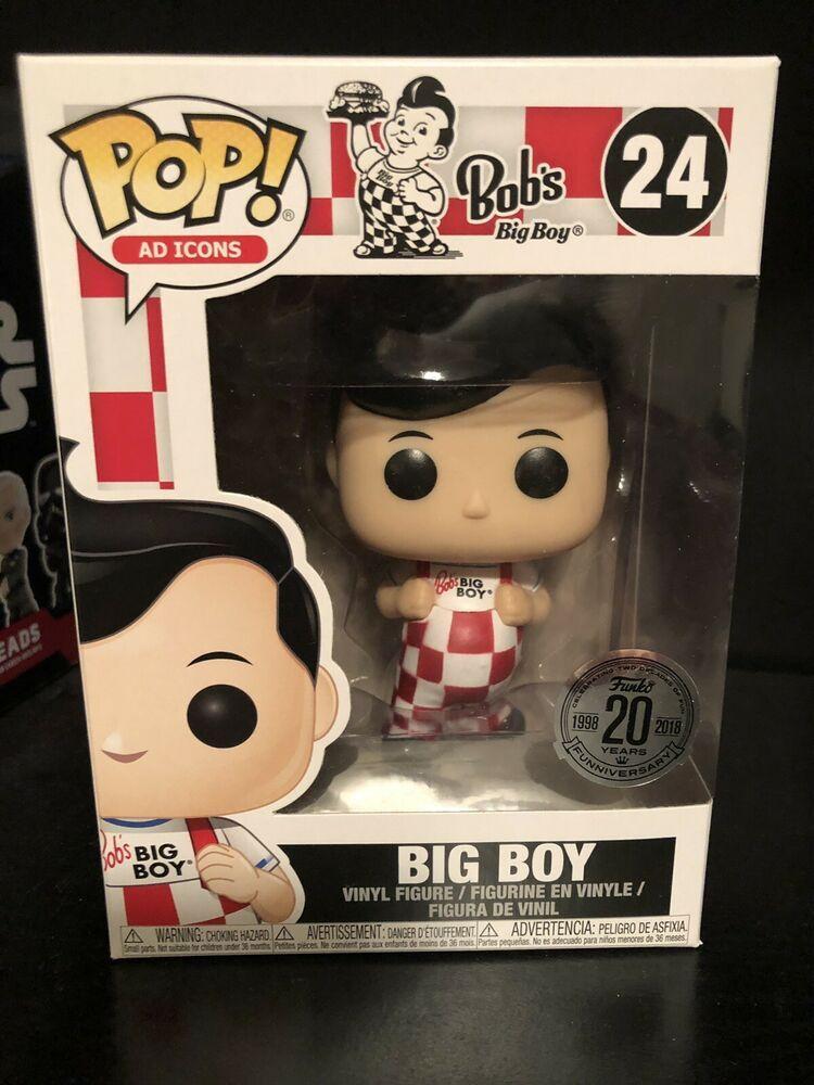 Bob/'s Big Boy Funko Pop #24 w// 20th Anniversary Sticker Ad Icon New Pose Pop!