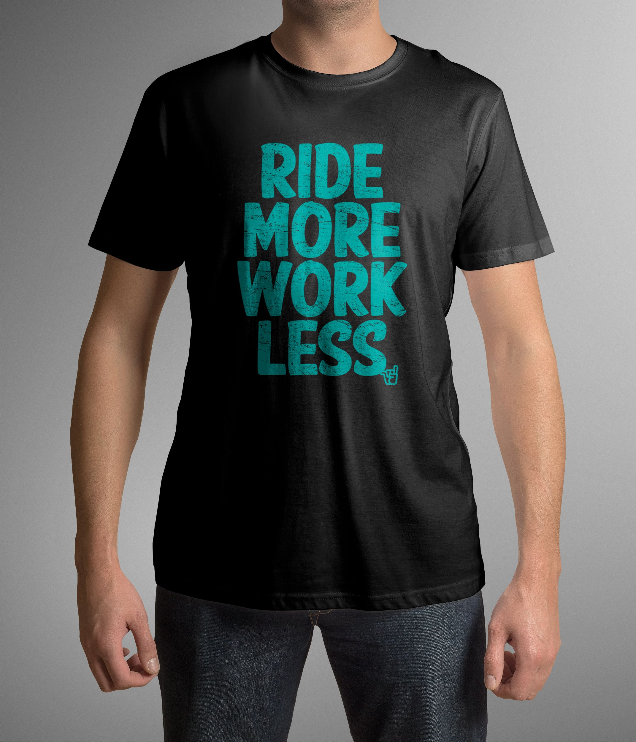 d5af4d690 Ride More Work Less tee in Yeti Turquoise from brokenridersuk.com ...