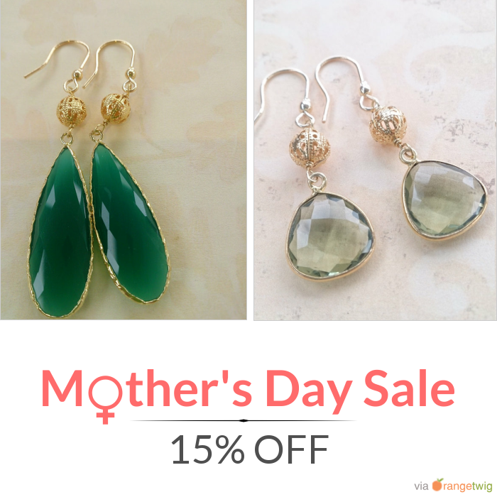 15% OFF on select products. Hurry, sale ending soon!  Check out our discounted products now: https://orangetwig.com/shops/AAAkB9K/campaigns/AACkCjt?cb=2016004&sn=CeliaElizabethJewels&ch=pin&crid=AACkCjQ&utm_source=Pinterest&utm_medium=Orangetwig_Marketing&utm_campaign=Mother's_Day_Special