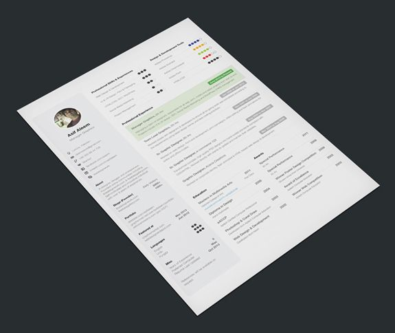 One Page Resume in Just $6 inspiration Pinterest Ui design - resume one page