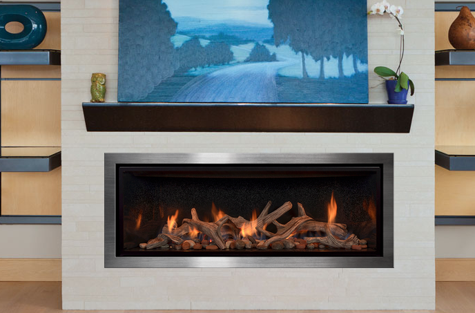 Fullview Decor Linear Model With Grace Front And Driftwood Fire