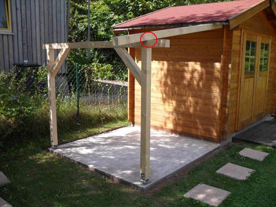 Schleppdach für Gartenhütte Bauanleitung zum Selberbauen