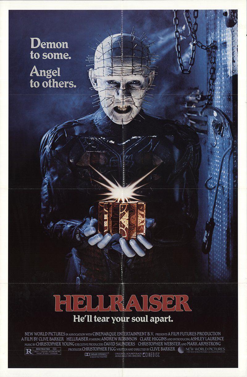 Hellraiser 1987 authentic 27 x 41 original movie poster