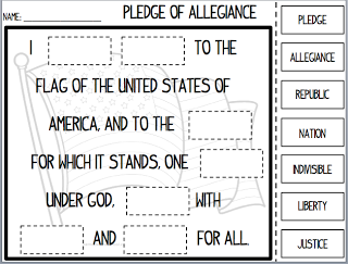 The Us Pledge For Young Learners Pledge Pinterest Social Pledge Of Allegiance Worksheets Activities I Pledge Allegiance Social Studies Lesson Plans, Kindergarten Social Studies, 4th