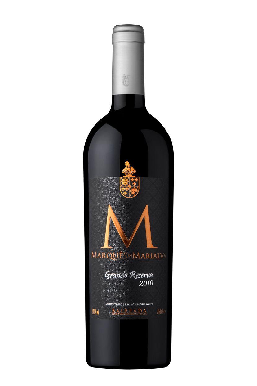 Marqués De Marialva Grande Reserva 2010 Wine Bottle Label Design Wine Bottle Labels Bottle Label Design