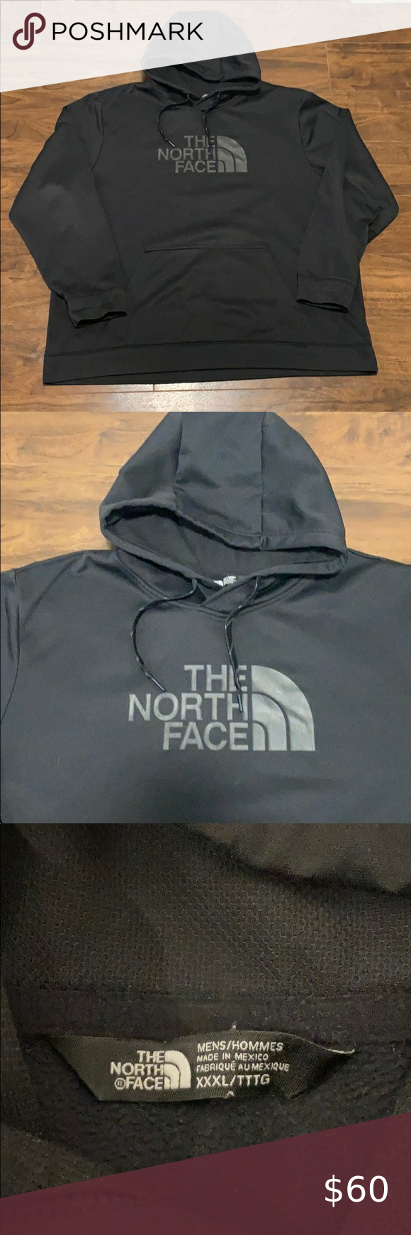 North Face Men S Hooded Pullover Sweater Size 3x North Face Mens North Face Shirts Pullover Sweaters [ 1740 x 580 Pixel ]