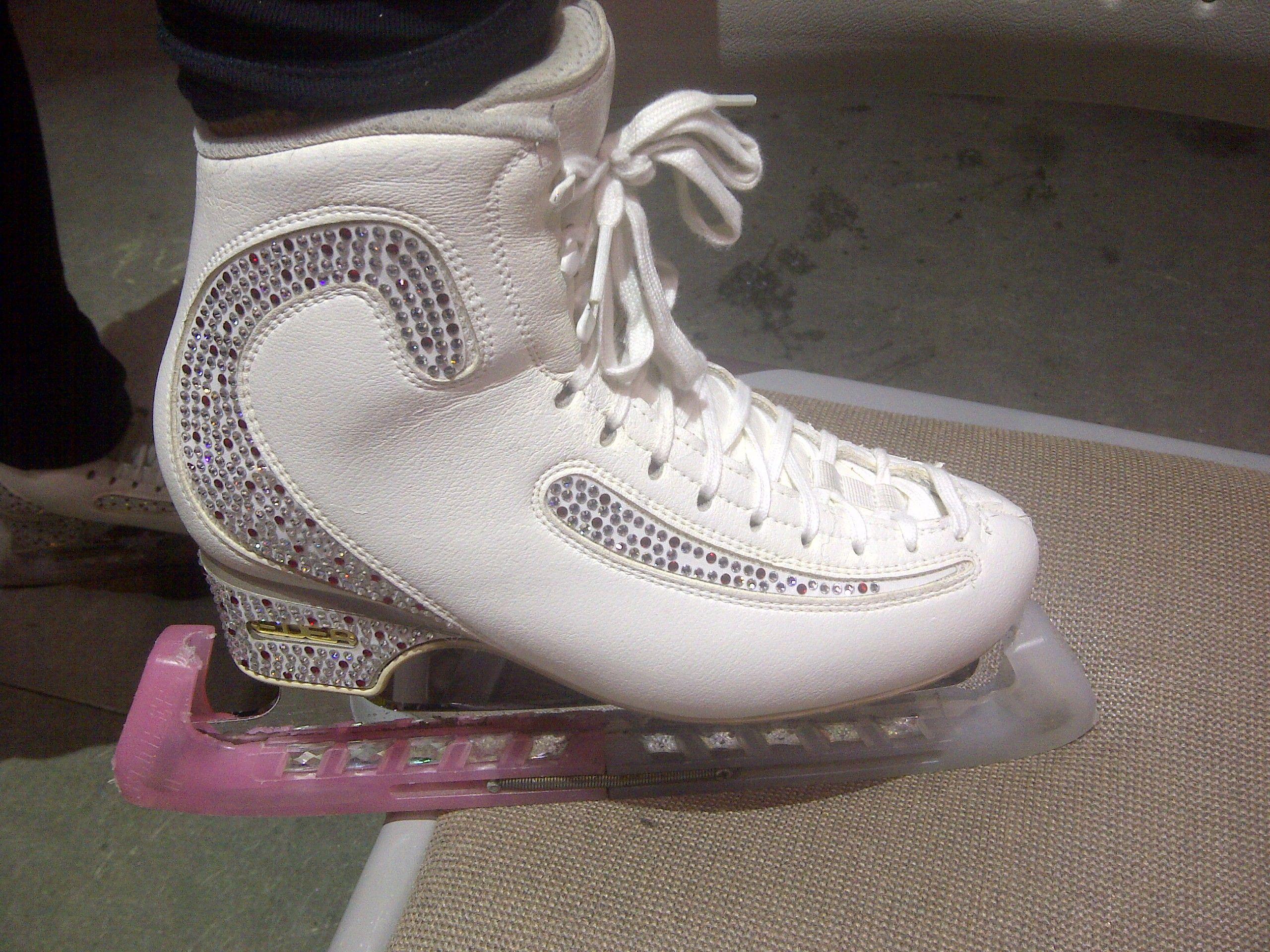 Crystals On Edea Skates Figure Skate Boots Skating Dresses Skate