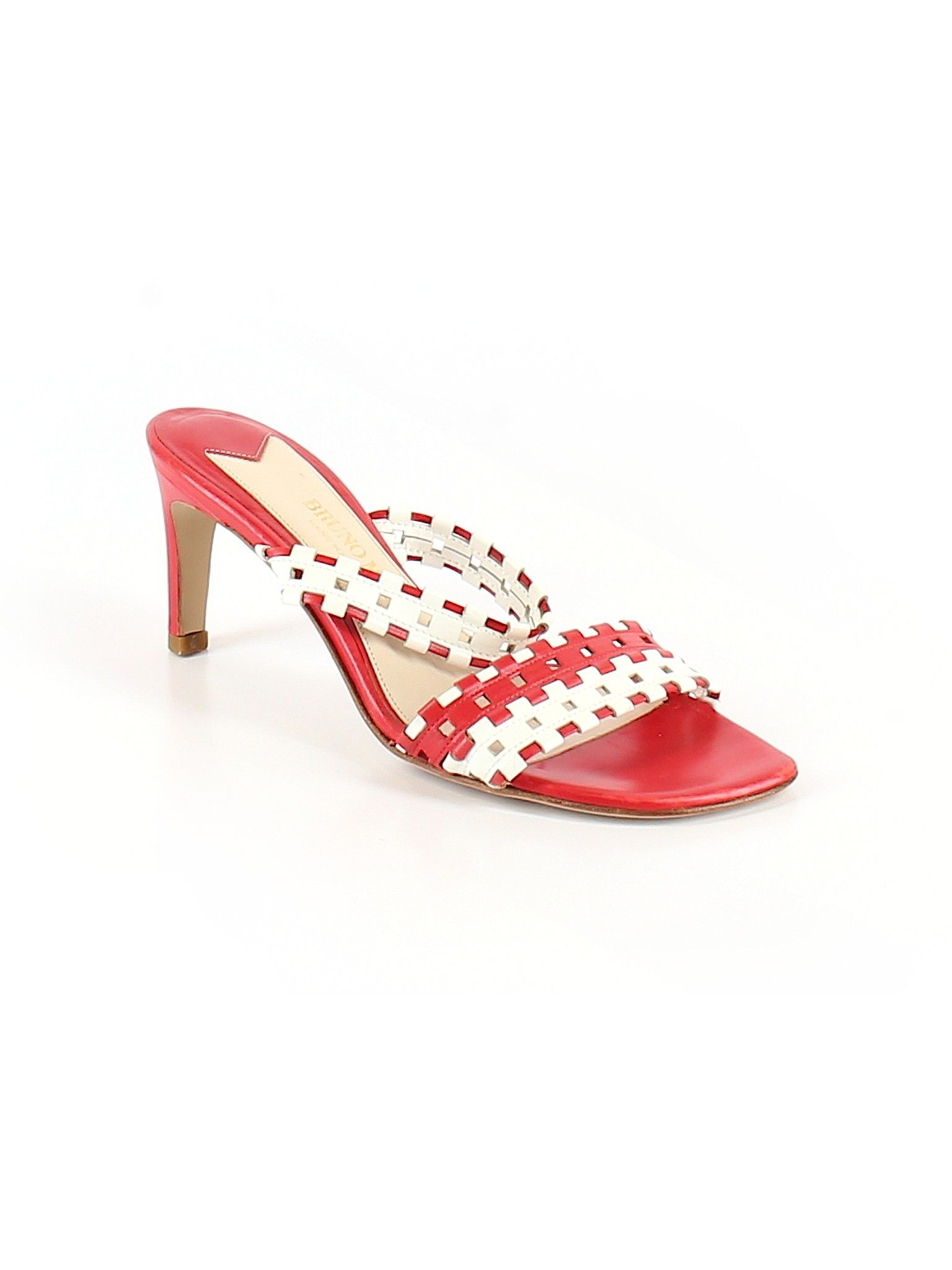 Bruno Magli Heel Red Solid Women S Shoes Size 6 1 2 Women Shoes Heels Womens Heels