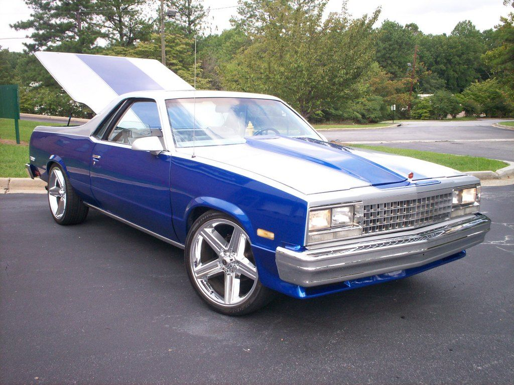 1983 El Camino Chevrolet El Camino 1983 Chevy El Camino Two Tone Paint In Out Chevrolet El Camino Custom Cars Paint El Camino