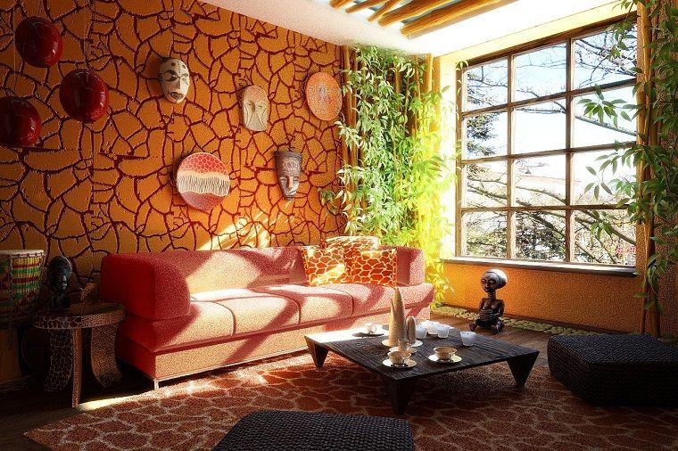 mobili etnici idea soggiorno maschere pareti | INTERIOR DESIGN ...