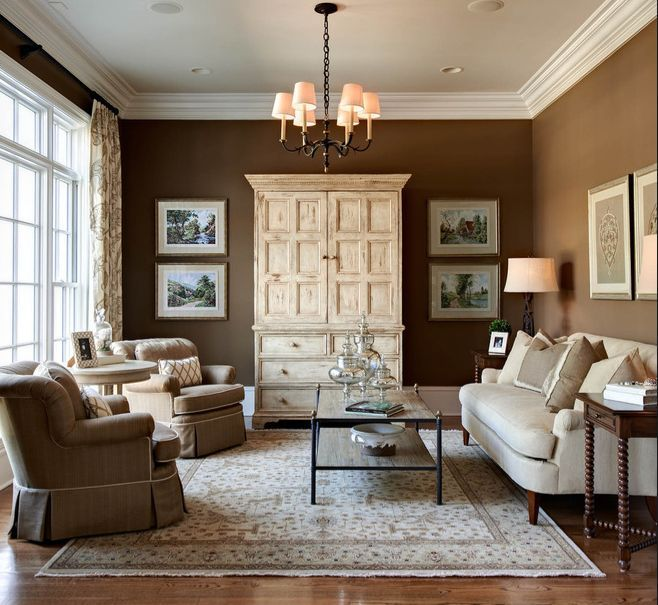Traditional Small Living Room Decorating Ideas Dark Brown Carpet Design Idea Home Decor Pinterest