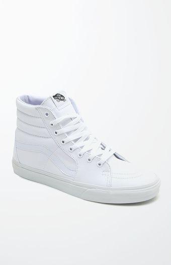 Vans Sk8-Hi White Shoes CHRISTMAS Shoes, White shoes, Vans