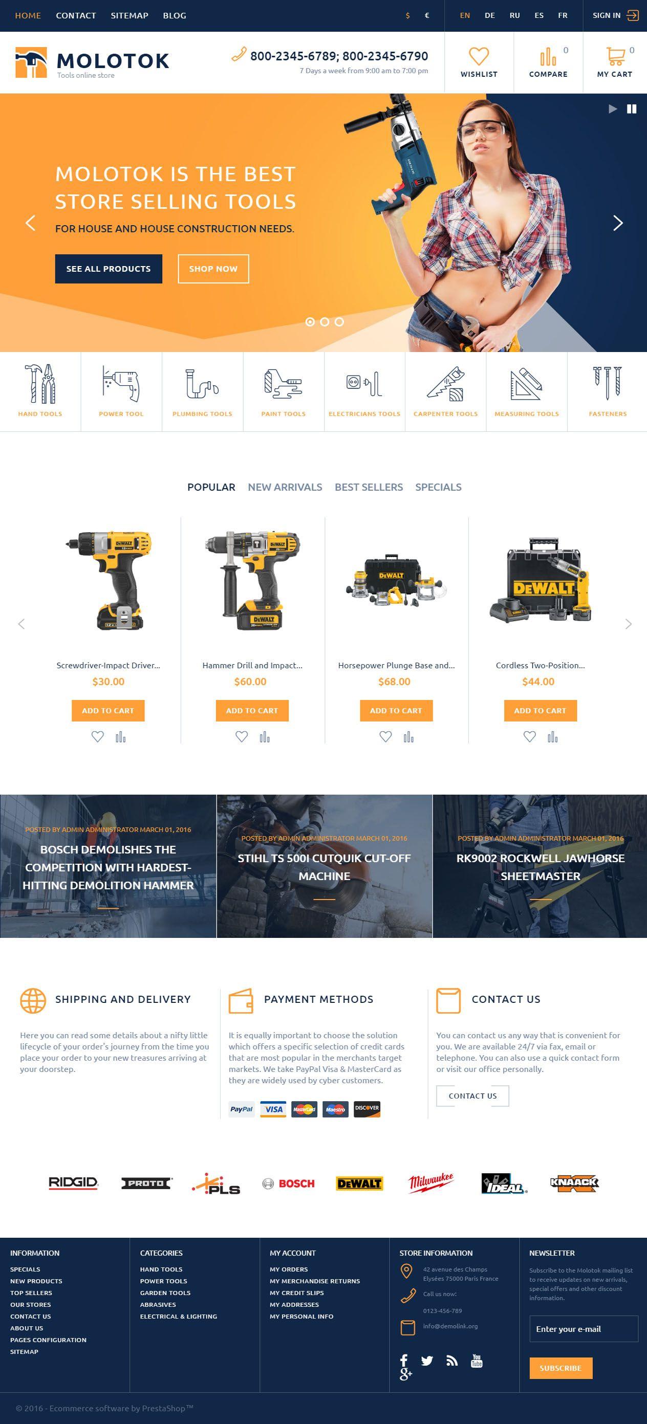 Molotok Is Premium Full Responsive Prestashop Ecommerce Theme Retina Ready Google Fonts Ecommerce Web Design Ecommerce Website Template Web Layout Design