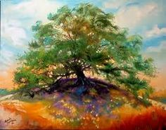 The Oak Tree With Images Painting Autumn Trees Landscape