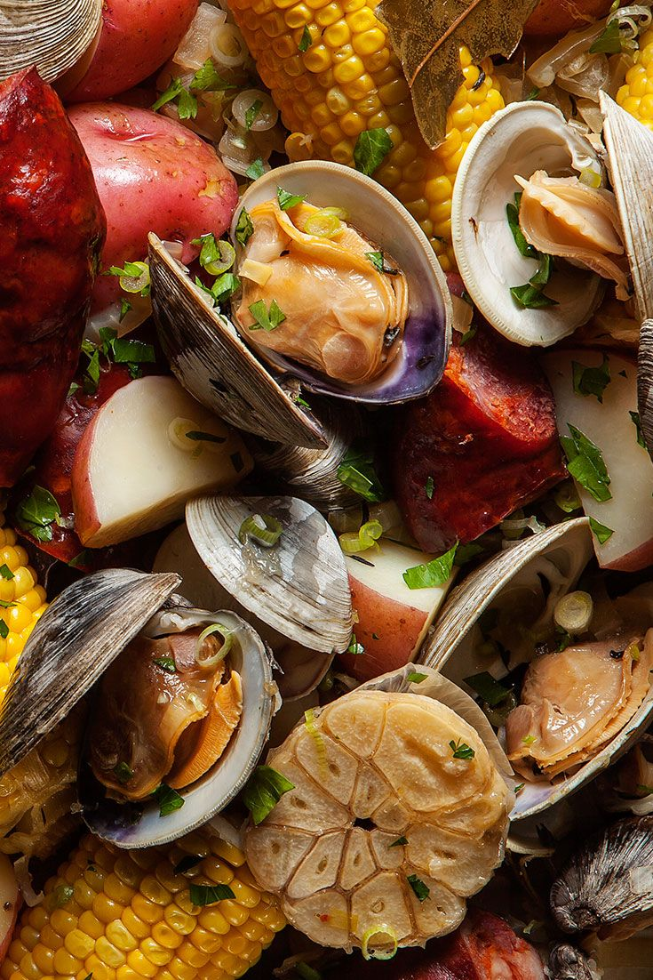 Portuguese New England Clam Boil Recipe Shellfish