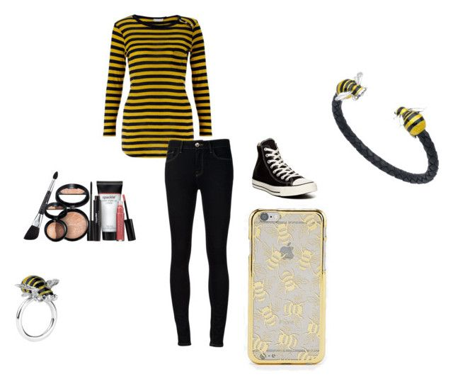 """""""Because I got stung by a bee!"""" by cassidy-vn ❤ liked on Polyvore featuring Deakin & Francis, John Lewis, Ström, Converse, Skinnydip and Laura Geller"""