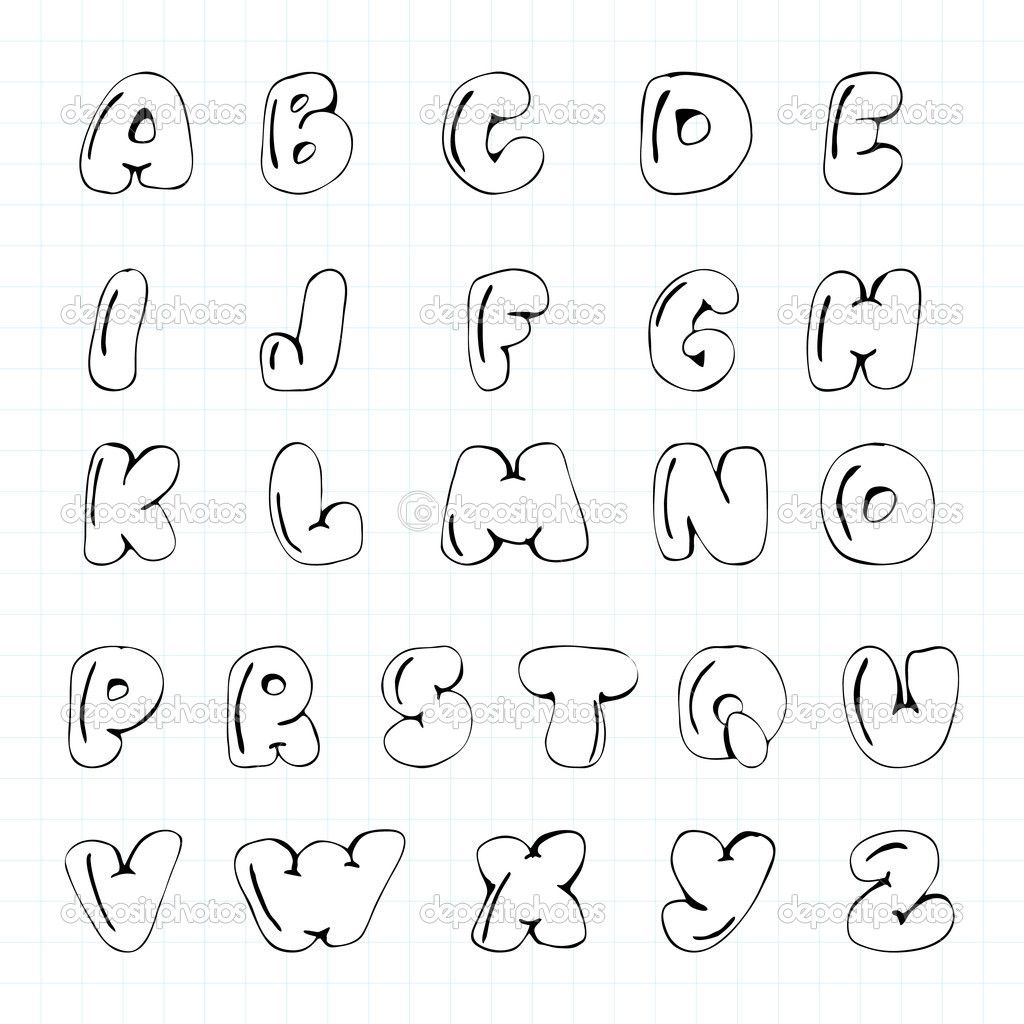 Kid Fonts Bubble Handwriting Lettertype