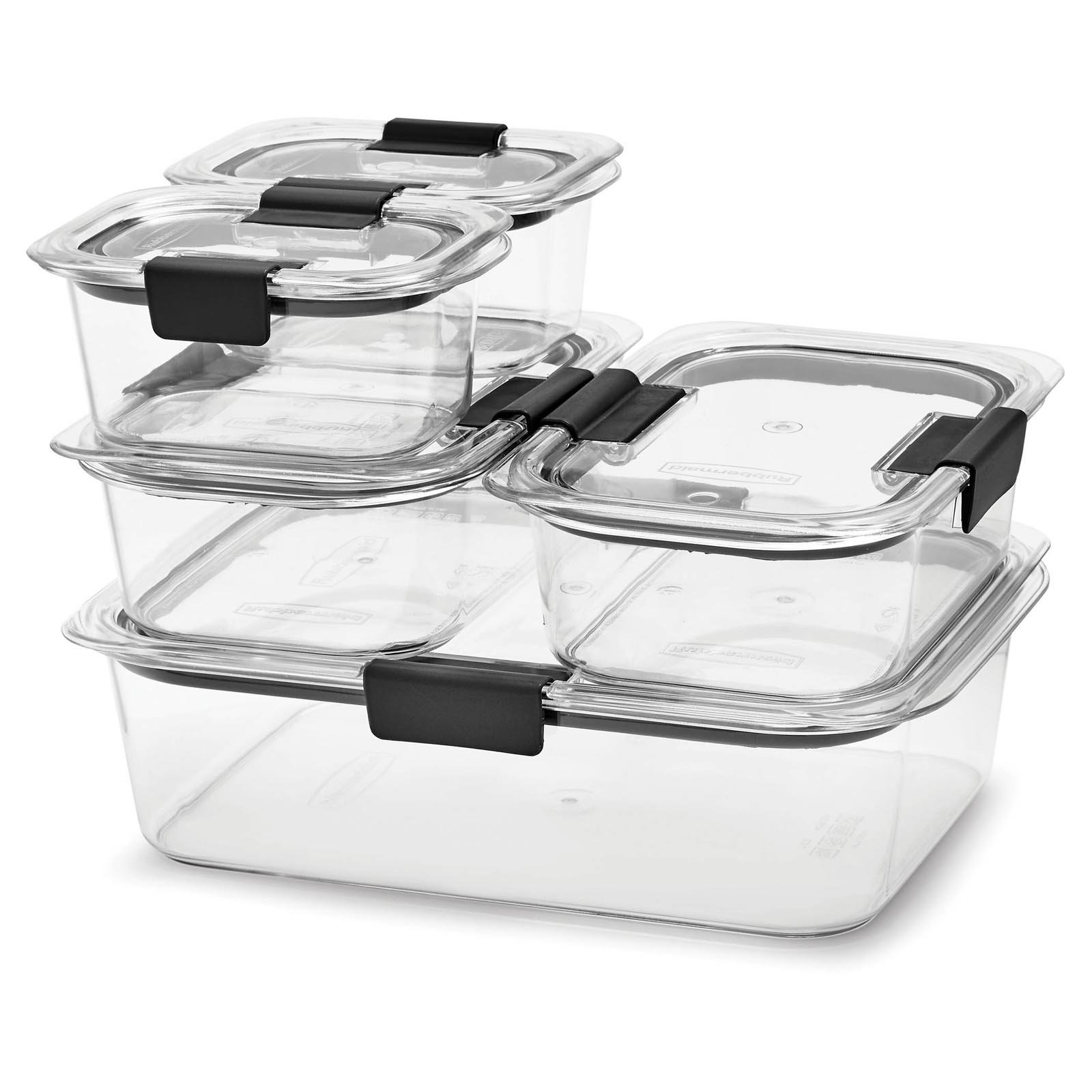 Rubbermaid Brilliance Food Storage Container 10 Piece Set Clear