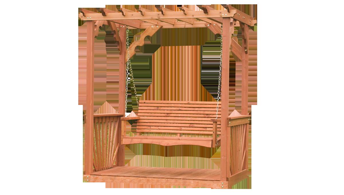Enjoy Cool Summer Breezes And A Gentle Swing In Our Cedar Pergola Swing Enter2win One Backyard Discovery Pergola Swing Cedar Pergola Porch Swing