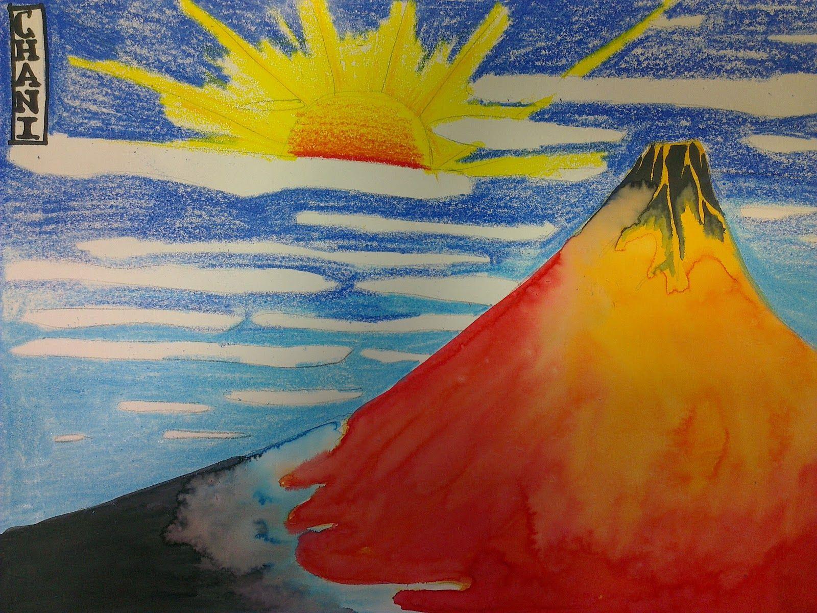 Volcano Volcano Art Ideas Ks2