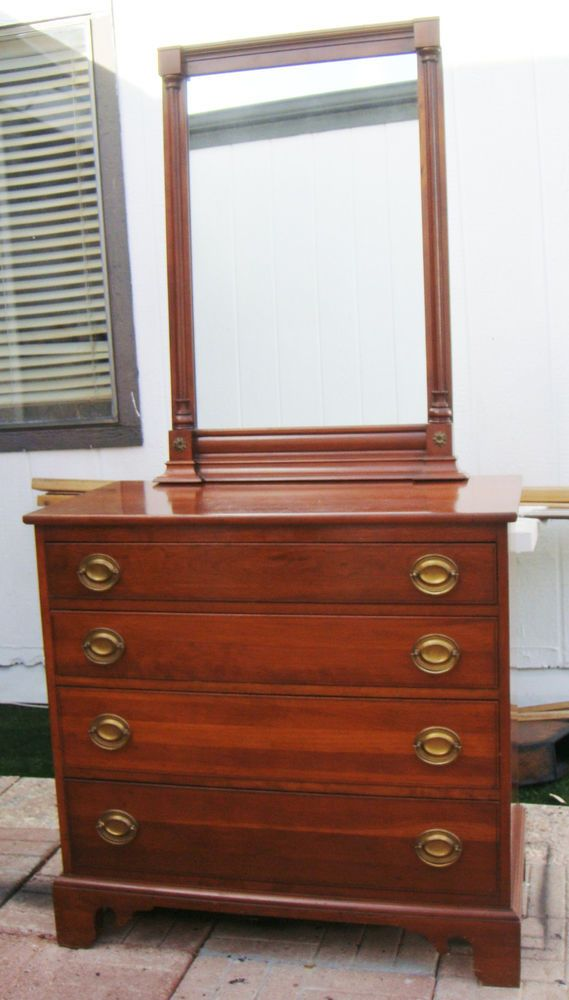 Dresser With Mirror Willett Cherry Wood Willett Furniture