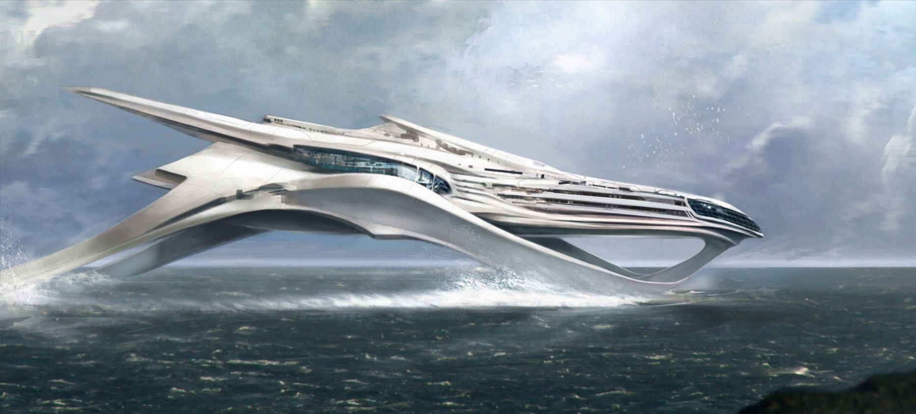 the futuristic ship from cloud atlas | Ocean Going Ships ...