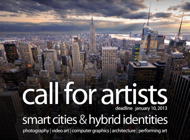 call for artists/architects/designers: smart cities & hybrid identities . venice