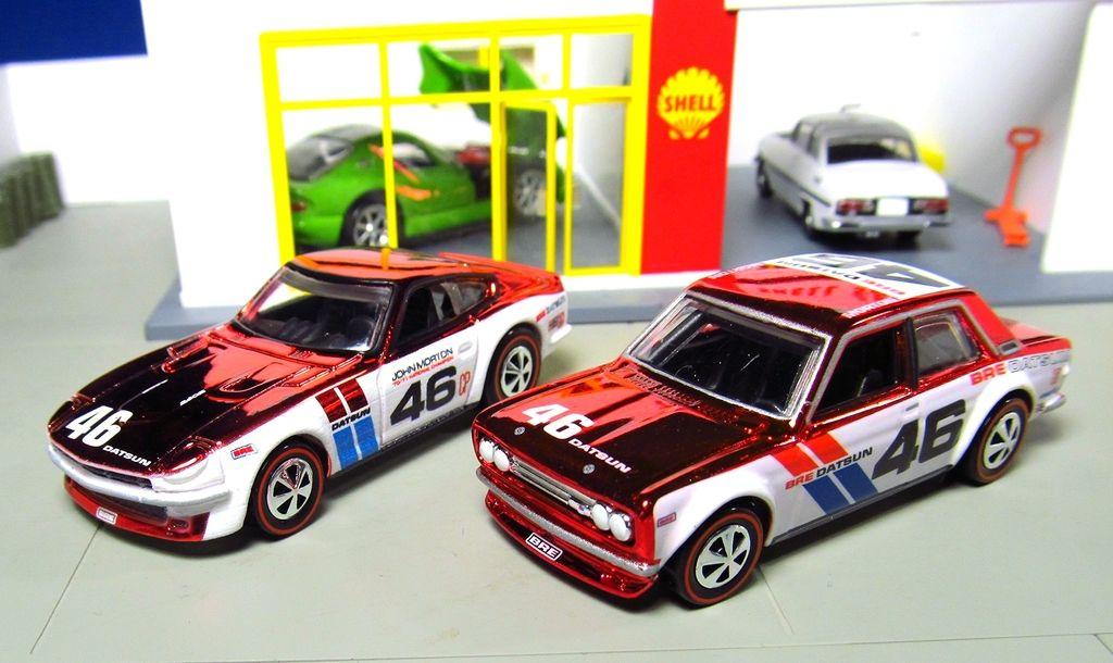 Mattel Hot Wheels RLC - BRE Datsun 240Z & Bluebird 510 fairlady kyosho  tomica tomicarama vintage neo