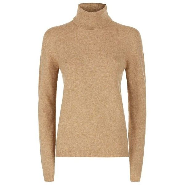 Harrods of London Cashmere Roll Neck Sweater (1 115 SEK) ❤ liked on Polyvore featuring tops, sweaters, cashmere tops, rollneck sweaters, beige top, wool cashmere sweater and cashmere sweater