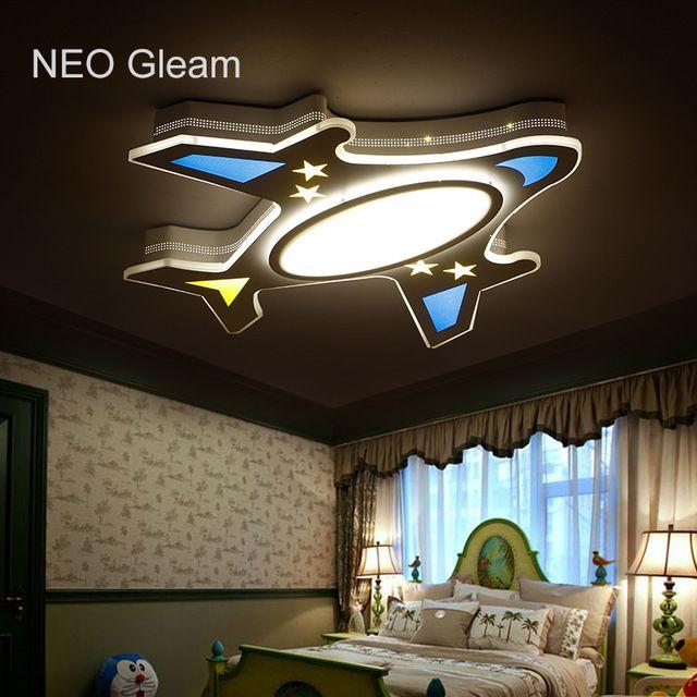 Neo Gleam Children Dreaming Plane Modern Led Ceiling Lights For Children Room Ac85 265v Room Dec Modern Led Ceiling Lights Ceiling Design Modern Ceiling Lights
