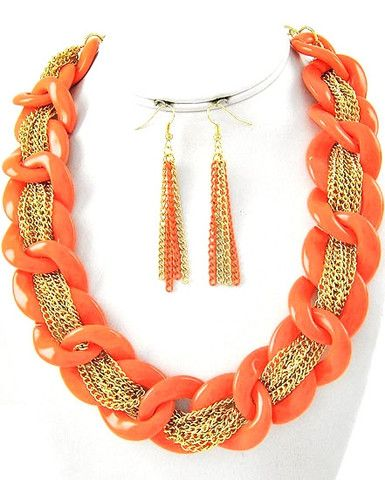 Desert Sun Necklace & Earring Set