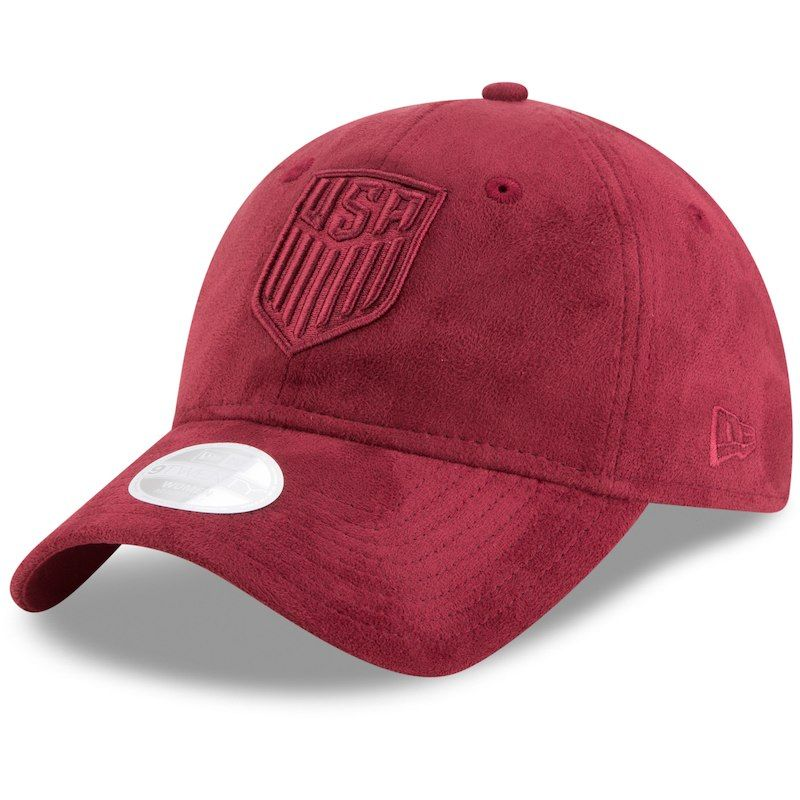 US Soccer New Era Women s Sassy Suede Slouch Adjustable Hat – Red ... aa92b5f35c7