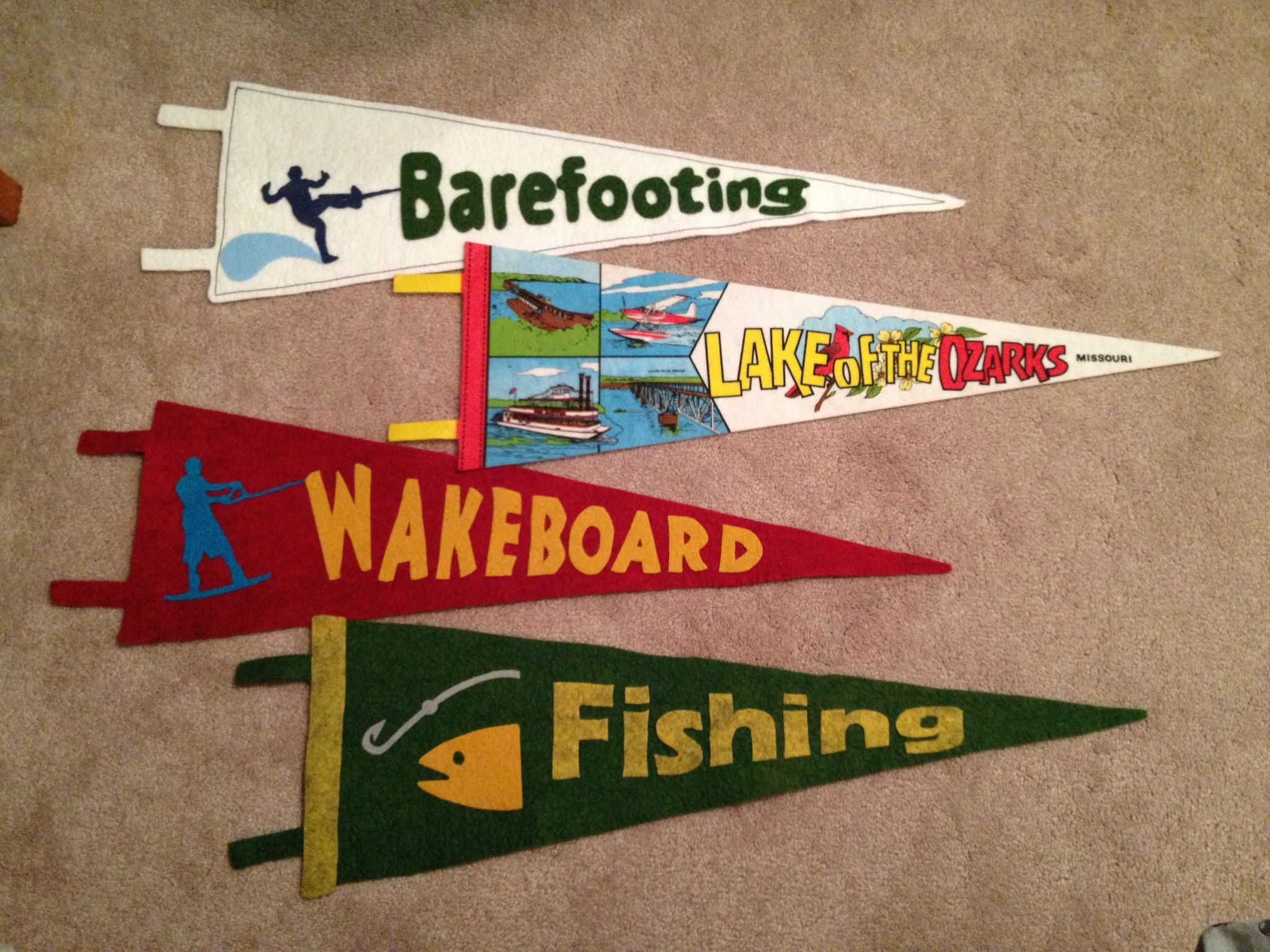 More Custom Water Sports Pennants For The Bunk Room At Our Lake House Lake Decor Sports Decorations Lake House