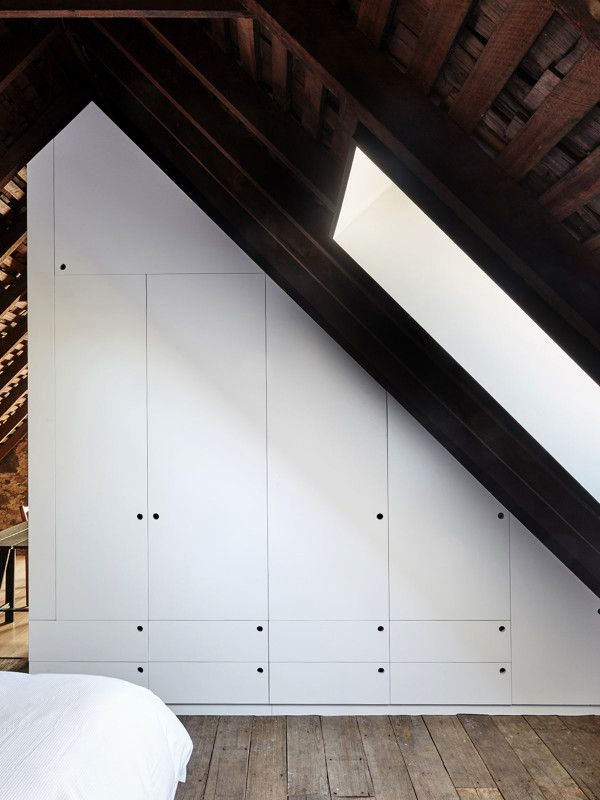 Attic - The built in wardrobe in the mezzanine bedroom follows the slope of the existing & Attic - The built in wardrobe in the mezzanine bedroom follows the ...