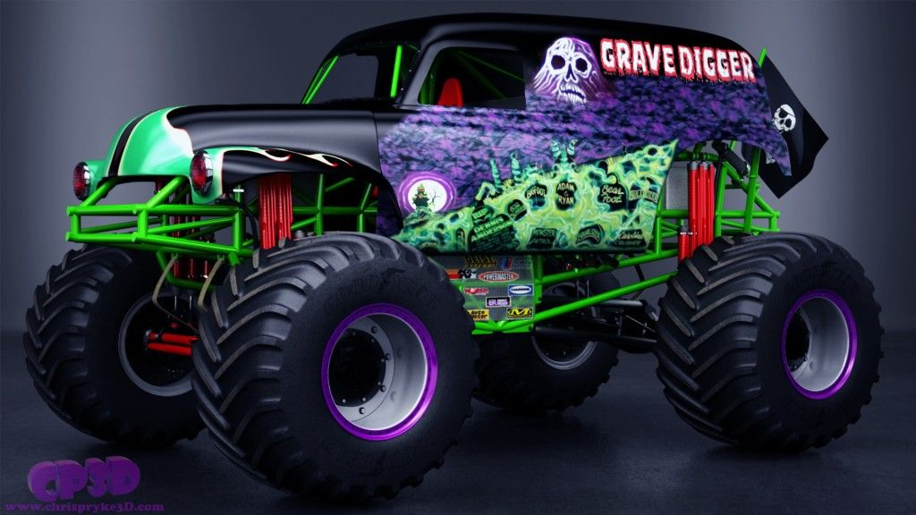 Grave Digger Monster Truck Grave Digger Monster Truck By Chris