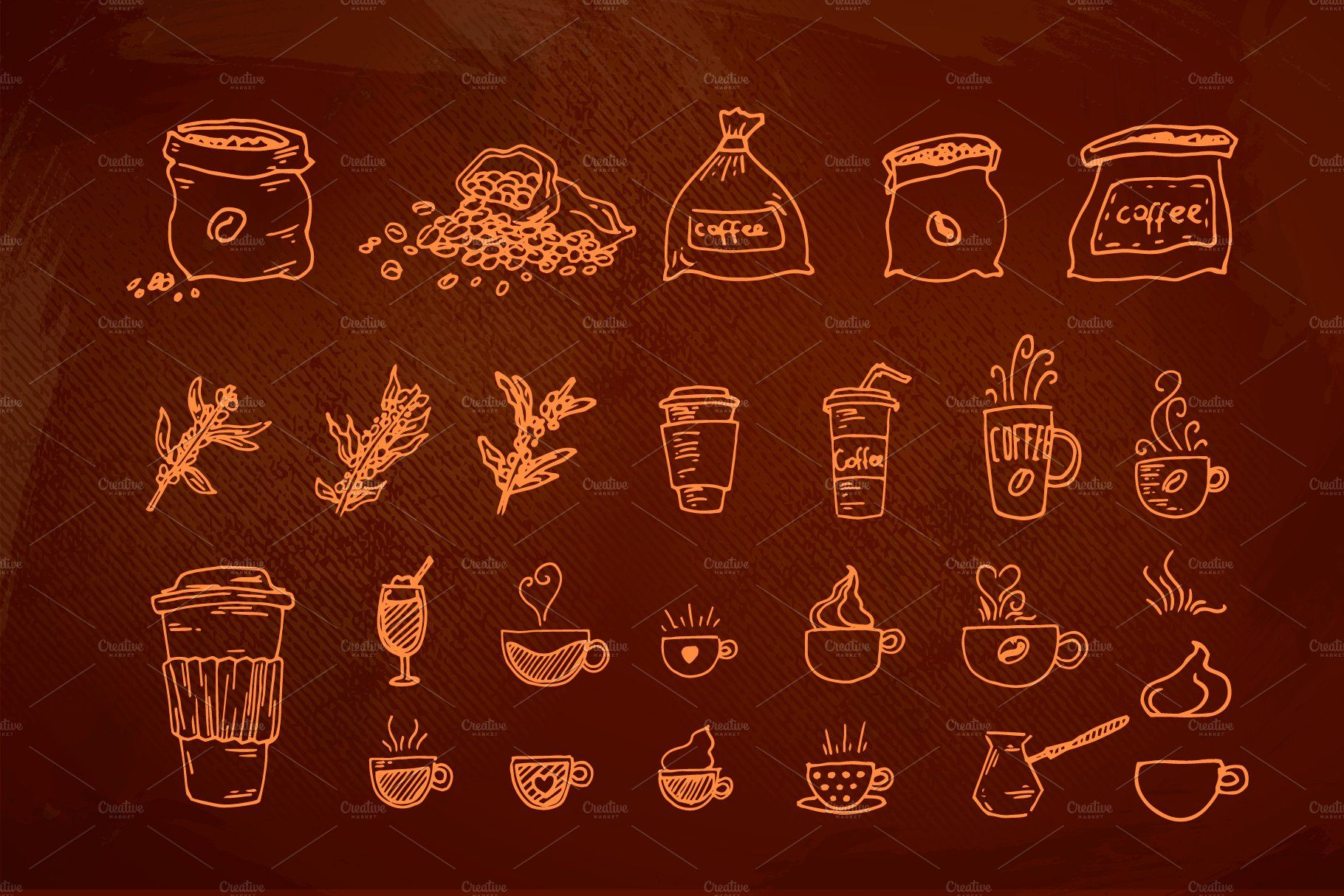 100+ Hand Drawn Coffee House element How to draw hands