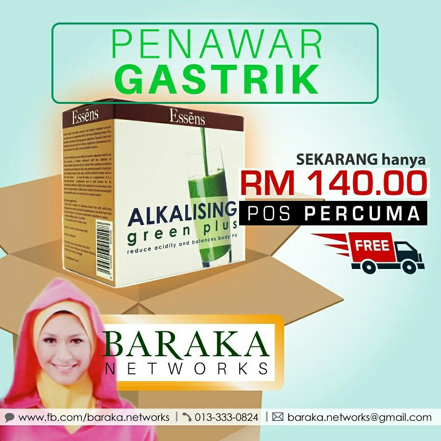 FREE posting and delivery - Alkalising Green Plus is good for gastric, heart burn and windy stomach. It can help you relieve from gastric in a day without using hospital medicine.. Try it now. SMS/Whatsapp AGP to 013 333 0824