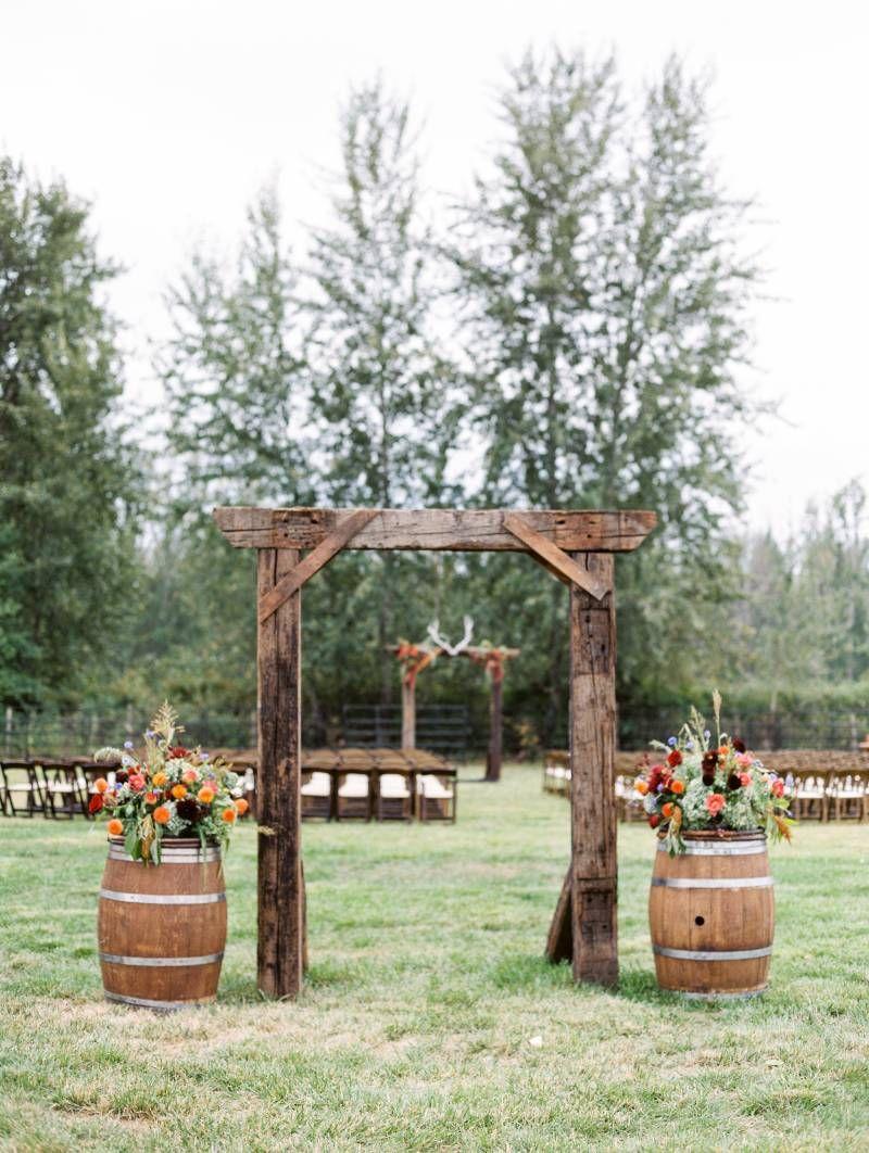 rustic kelowna home wedding | outdoor wedding decorations
