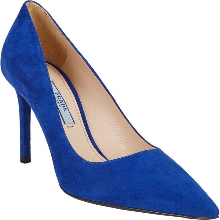 0e46ff5475940 Prada Suede Point-Toe Pumps on shopstyle.co.uk | LOVE | Pointed toe ...