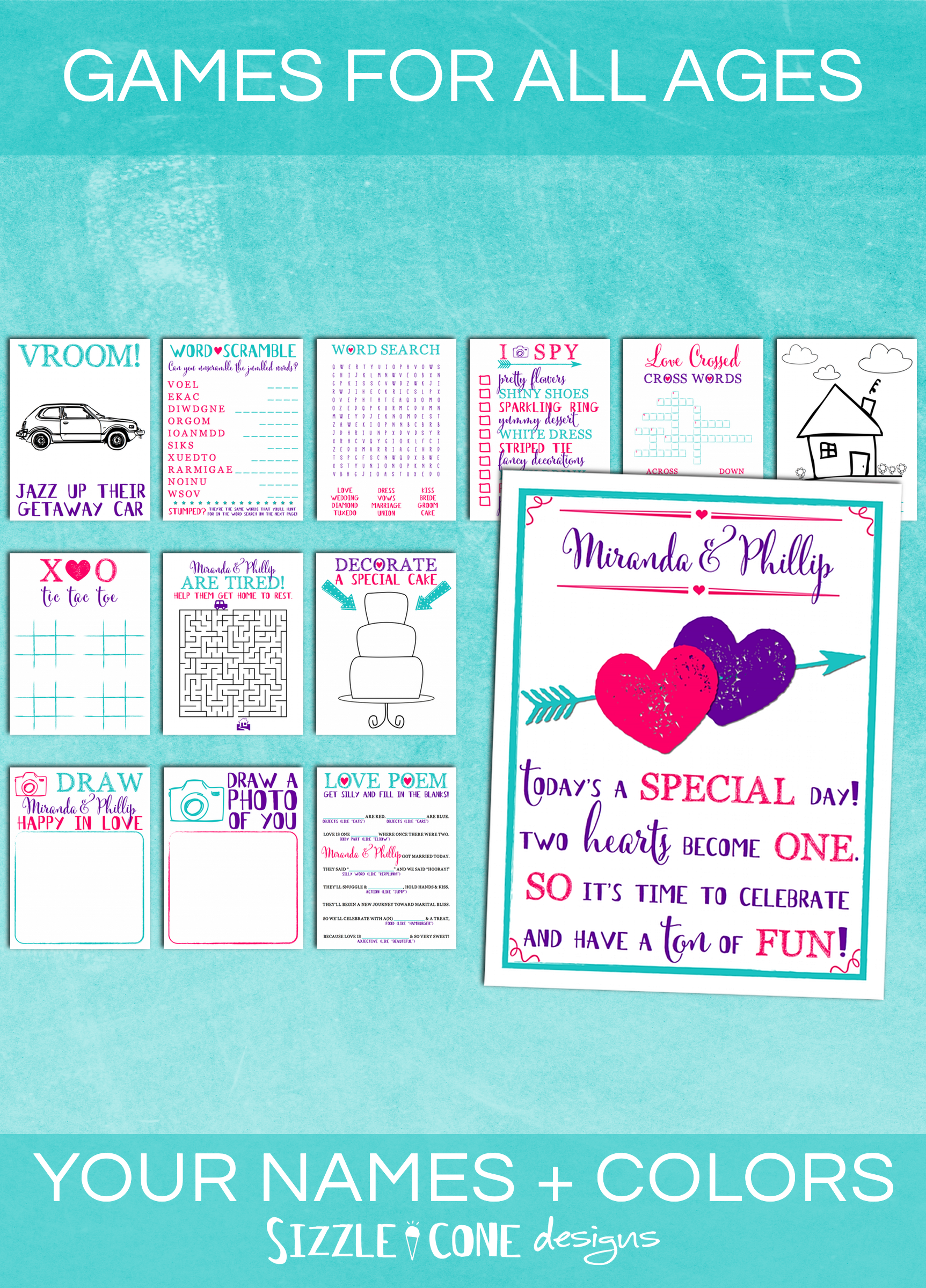 Personalized Kids Wedding Activity Book Printable