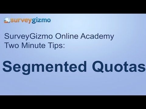 Two Minute Tips Segmented Quotas How To Limit The Number Of