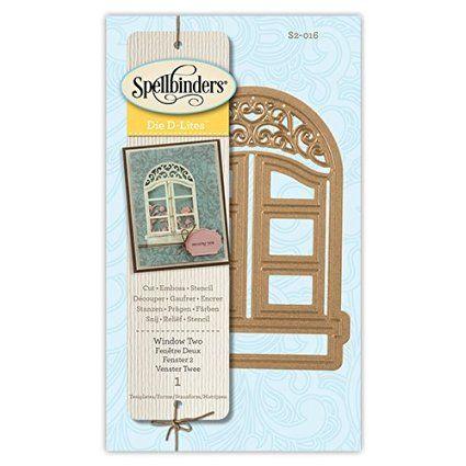 Amazon.com: Spellbinders S2-016 Shapeabilities D-Lites Window 2-Die Templates